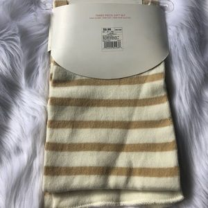 Xhilaration Accessories - Xhilaration ivory and tan striped scarf nwt